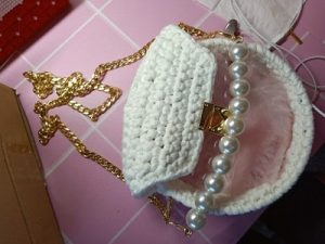Acrylic Transparent bag Hand-knitted Bag photo review