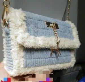 DIY Autumn Coral Fleece Crochet Bag photo review